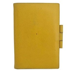 Hermes Circle Z 1996 Agenda Note Cover Yellow